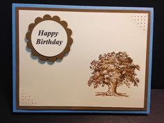 Lovely as a Tree, Masculine Card, Birthday Card, Stampin' Up!, Rubber Stamping, Handmade Cards