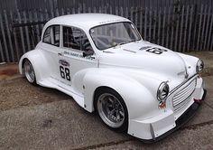 Morris minor V8. #austin #minor #v8 #morris #racecar #raceday #wild #383ci #white #handling #car #carnut #carcrazy #race #car #dreamcar #fast