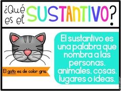 Los Sustantivos (Nouns in Spanish) Dual Language Classroom, Bilingual Classroom, Spanish Teaching Resources, Comprehension Strategies, School Posters, Home Schooling, Hands On Activities, Spanish Language, Anchor Charts