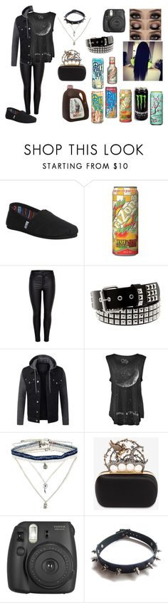 """""""Miscarriage"""" by budlebug ❤ liked on Polyvore featuring TOMS, MANGO, Decree, Alexander McQueen, Fujifilm and WithChic"""