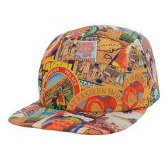 City pattern baseball cap