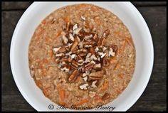 Carrot Cake Oatmeal (uses steel cut oats)