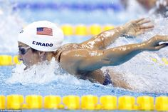 The USA's Madeline 'Maya' Dirado takes part in the Women's 400m Individual Medley heat. On Thursday, she will compete in the 200m backstroke