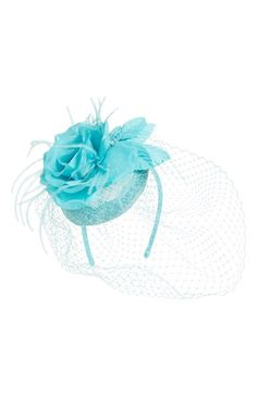 August Hat Veiled Floral Fascinator Headband