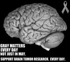 Support brain tumors EVERY day not just in May