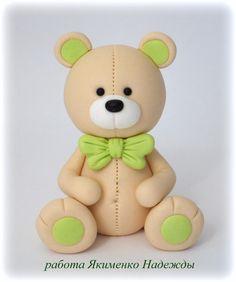 50 ideas for cupcakes fondant toppers teddy bears Fondant Toppers, Fondant Cupcakes, Cupcake Toppers, Cake Topper Tutorial, Fondant Tutorial, Polymer Clay Animals, Polymer Clay Crafts, Crea Fimo, Teddy Bear Cakes