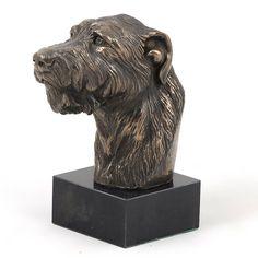 Irish Wolfhound dog marble statue limited by ArtDogshopcenter