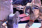 Cosmonauts Break Record for Longest Russian Spacewalk