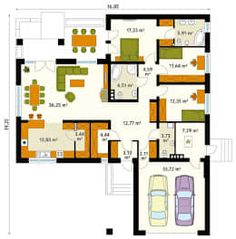 Paredes y pisos de estilo moderno por Biuro Projektów MTM Styl - domywstylu.pl