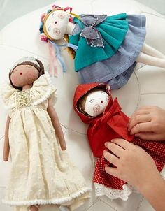 Everyone's favorite storybook heroine comes alive with our princess doll. This classic fairytale doll features intricate embroidery and stylish dress with a sparkling tiara. Designed exclusively for us by French-based C'est Dimanche.