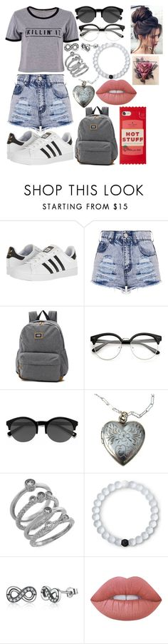 """""""Killin' It"""" by dlk6 ❤ liked on Polyvore featuring adidas, Vans, EyeBuyDirect.com, Cole Haan, Lokai, Lime Crime and Kate Spade"""