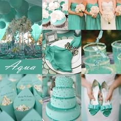 Aqua and White Wedding Reception | Amo casamento com decoração Mint & Aqua , acho delicado e ...
