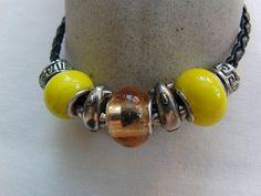 Bracelet Beaded Bracelet Jewellery Yellow Clear by OswestryJewels