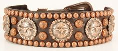 Trail Boss Custom Hand Made Western Leather Dog Collar in Antique Copper and Black Bridle Leather