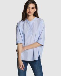 Blusa de mujer Kookai oversize con cuello mao