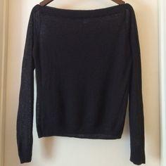 "Delia's Semi-Sheer Off The Shoulder Sweater Semi-sheer off the shoulder sweater. 55% Ramie, 45% Cotton. Bust: 38"", Waist, 32"", Length: 21"". Delia's Sweaters"