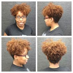 This is how I thought I wanted to cut my hair after my second big chop! Cut My Hair, Her Hair, Tapered Natural Hair Cut, Tapered Bob, Tapered Haircut, Curly Hair Styles, Natural Hair Styles, Hair Affair, Natural Hair Inspiration