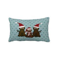 Festive #Christmas #Kitty: Throw #Pillow
