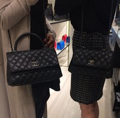 Chanel Black Coco Handle Mini and Small Bags 2