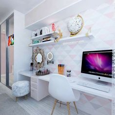 Buying Very Cheap Office Furniture Correctly Teen Room Decor, Room Ideas Bedroom, Small Room Bedroom, Bedroom Decor, Home Office Design, Home Office Decor, Interior Design Living Room, Office Setup, Office Ideas