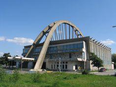 Socialist Architecture Bacău, Romania,Sala Sporturilor  #socialist #brutalism #architecture