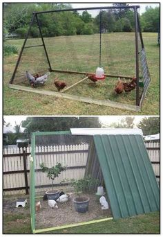 Keeping chicken in the backyard is really fun, as you will always have fresh eggs and cute pets at home. So if you have a little free space, you could consider building a chicken coop, even though you are only having a tiny backyard. We have found a round Backyard Chicken Coop Plans, Portable Chicken Coop, Building A Chicken Coop, Chickens Backyard, Chicken Coop Plans Free, Chicken Coop Garden, Backyard Coop, Chicken Coop Decor, Chicken Barn