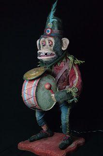 Monkey Doll, Monkey Art, Vintage Circus, Vintage Toys, Creepy Old Photos, Creepy Toys, Dark Circus, Circus Theme, Retro Toys
