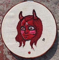 Devil embroidery art fashion couture