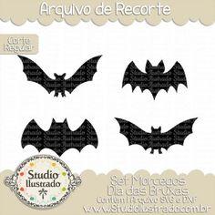 Bat Halloween Set, Set Morcegos Dia das Bruxas, Halloween, Batman, Símbolo, Symbol, Morcego, Bat, Corte Regular, Regular Cut, Silhouette, Arquivo de Recorte, DXF, SVG, PNG