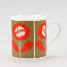 Box Flower Mug Red now featured on Fab.