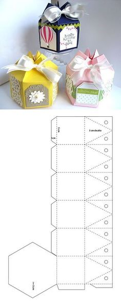 Caja scrapbook hexagonal - crafting storage boxes - gift boxes - p . - Caja scrapbook hexagonal – Storage Boxes Crafts – Gift Boxes – Paper Crafting comprises a wid - Diy Gift Box, Paper Gift Box, Diy Box, Diy Gifts, Gift Boxes, Diy Arts And Crafts, Paper Crafts, Wood Crafts, Paper Box Template