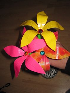 Duct Tape Flower Pens