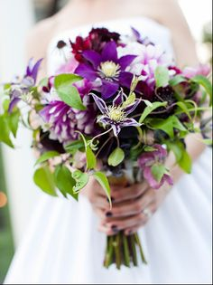 Bouquet by Floral Cadet featuring purple clematis