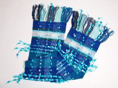 Hand Woven Scarf WAVE Handwoven Scarves Women Scarf by Nadallina