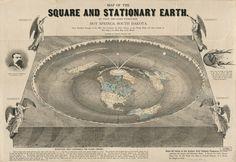 "Bizarre ""Flat Earth"" Map, 1893 #map #world #flat"