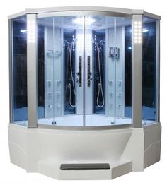 What's Included:  • Eagle Bath WS-701 Steam Shower Sauna Enclosures w/ Whirlpool Bathtub Combo Unit    Product Features:  • Dimension: 65  x 65  x