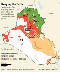 on.wsj.com/1AjIkz6 Saddam Hussein, Asia Map, Baghdad Iraq, Country Maps, Political Issues, Keep The Faith, Information Graphics, Historical Maps, World History