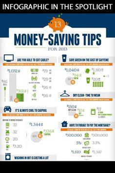 Money-Saving Tips; Infographic in the spotlight