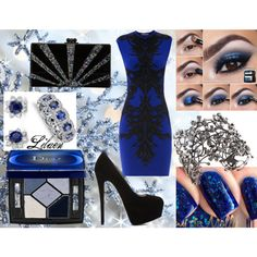 """""""Blue Christmas"""" by lilaen on Polyvore"""