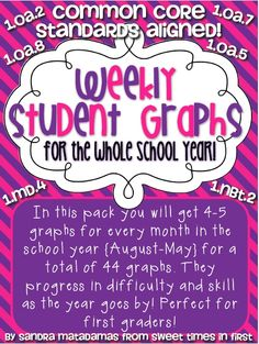 Sweet Times in First: Weekly Common Core Aligned Student Graphs for the Whole School Year! Flash Sale!- perfect for a graphing station!