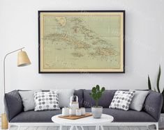 old map of The Bahamas Historic Bahama Map 1888 antique Old World Restoration Style nautical chart Map Fine Art Print CARIBBEAN wall map
