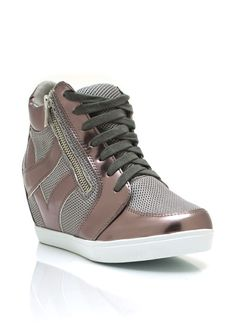metallic trim sneaker wedges $37.70