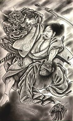 Check out our Demon Tattoos Picture Gallery. Loads of Demon Tattoos for you to get great tattoo ideas or just browse our Demon Tattoo Pictures and enjoy. Samurai Warrior Tattoo, Samurai Art, Japanese Demon Tattoo, Los Primates, Martial, Ju Jitsu, Traditional Japanese Tattoos, Japanese Tattoo Designs, Asian Tattoos