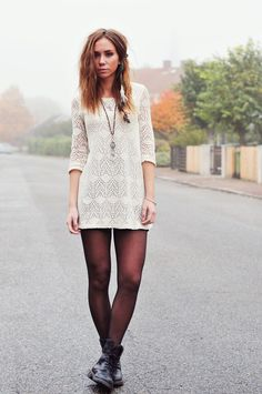 Crochet Dress with Doc Martens