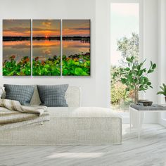 Ready2HangArt 'Beauty at Rest' Oversized 3-Piece Canvas Wall Décor Set by Adam Byerly