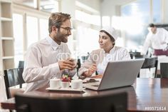 Restaurant chef and manager discussing menu Manager, Restaurant, Stock Foto, Chef, Business, Pictures, Royalty Free Images, Diner Restaurant, Restaurants