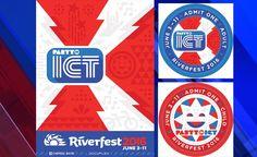 Riverfest 2016 Indian Symbols, Admit One, June 3rd, 3 In One, Kansas, Flag, Happy, Ser Feliz, Science