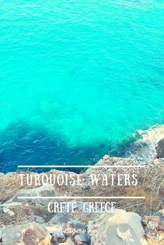 Amazing turquoise waters in Crete, Greece #travel #crete #greece #turquoise