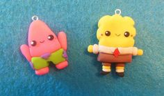 DIY your photo charms, 100% compatible with Pandora bracelets. Make your gifts special. Make your life special! Spongebob and Patrick Tutorial ♥ Polymer Clay
