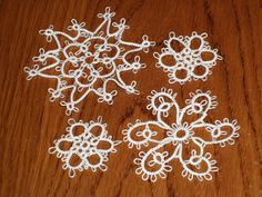 Lovely tatting by lisab399 on Flickr! From the Dover Needlework Series book Tatted Snowflakes by Vida Sunderman (1995)